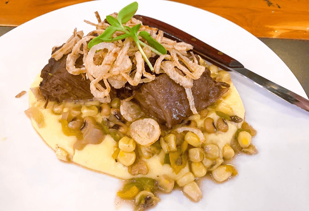Braised Angus Short Rib with creamy mashed potatoes